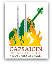 Capsaicin for two flutes and cello