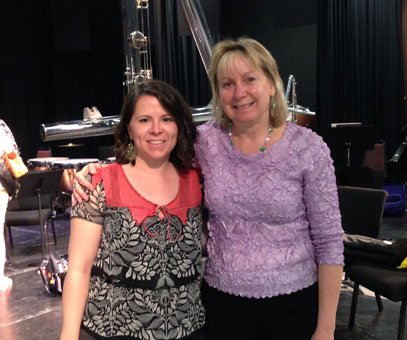 With Low Flutist Paige Dashner Long